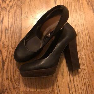 Mossimo Supply Co. Shoes - Black heels with dark brown heel